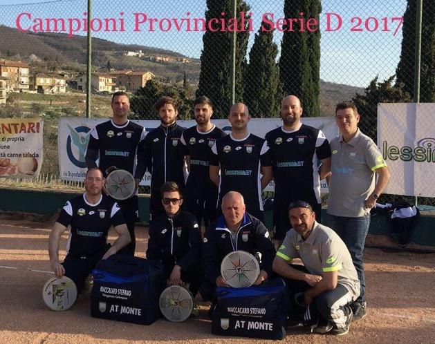 Campioni Provinciali Serie D 2017
